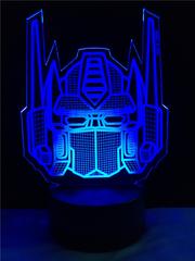 3D светильник с пультом Трансформер Оптимус Прайм — 3D light remote control Transformer Optimus Prime