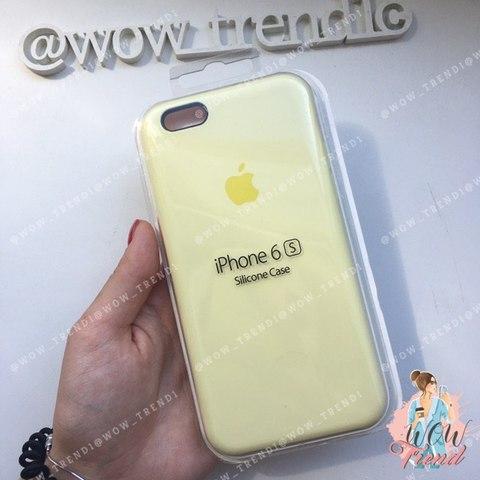Чехол iPhone 6+/6s+ Silicone Case /mellow yellow/  волшебно-желтый 1:1