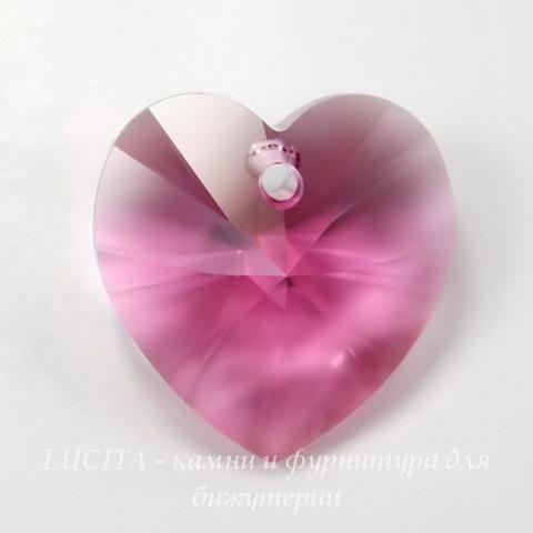 6228 Подвеска Сваровски Сердечко Rose (14,4х14 мм)