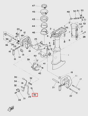 Пружина кронштейна поднятия мотора для лодочного мотора T5 Sea-PRO (10-35)