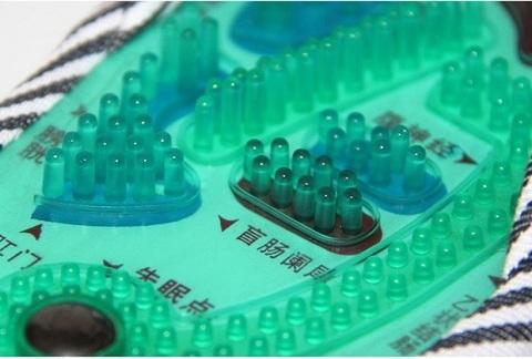 <p>Массажные тапочки Шиацу воздействуют на биологически активные то...