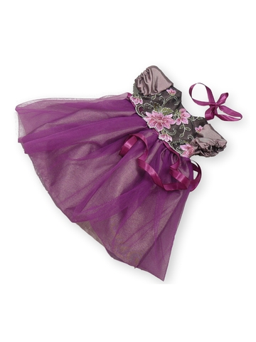 Платье из тафты - Лиловый. Одежда для кукол, пупсов и мягких игрушек.