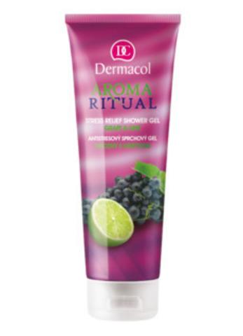 Dermacol Aroma Ritual Shower Gel - Grape & Lime Гель-антистресс для душа с маслом виноградных косточек и экстрактом лайма, 250мл