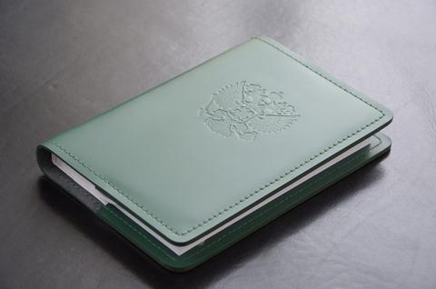 Ежедневник из зеленой итальянской кожи Cuoietto.