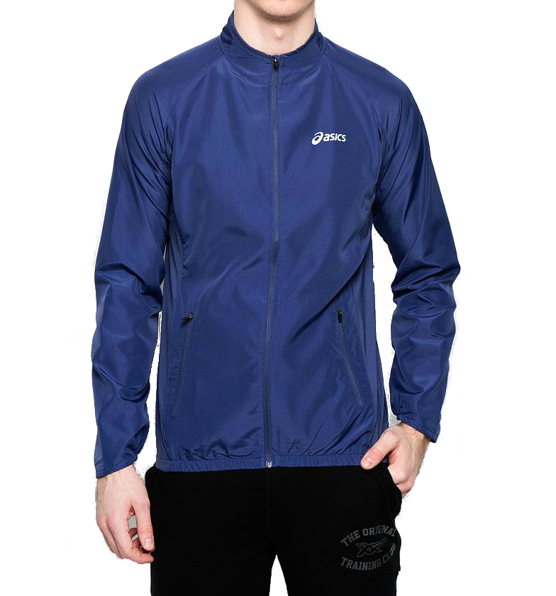 Мужская куртка ветровка Asics Woven Jacket (110411 8133) синяя фото