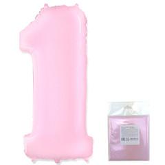 Цифра 1, Розовый, F 40''/102 см, 1 шт. в упаковке