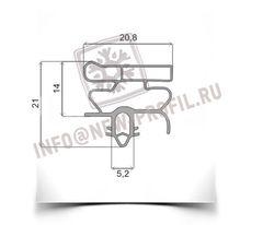 Уплотнитель 102*57 см для холодильника  Electrolux ERB8648 (холодильная камера) Профиль 010
