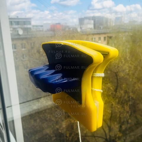 Щётка магнитная для двухстороннего мытья окон до 10 мм Double Sided Glass Cleaner