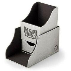 Dragon Shield - Серо-чёрная коробочка Nest+ с отделением для кубиков (100 карт)