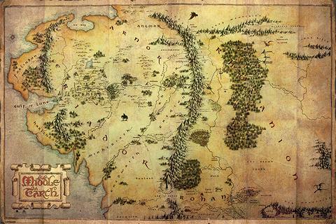 Постер Maxi Pyramid: The Hobbit (Journey Map)