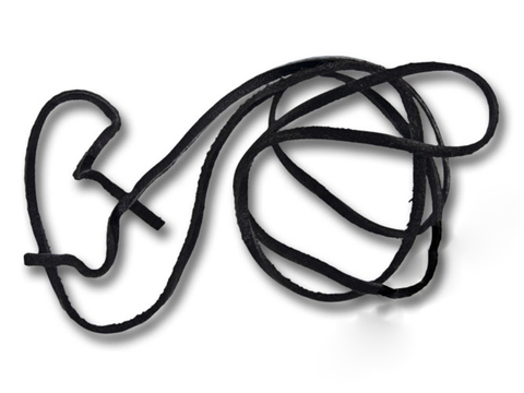 Шнур 70 см кожаный 2-3 мм без замка для кулонов RH00253