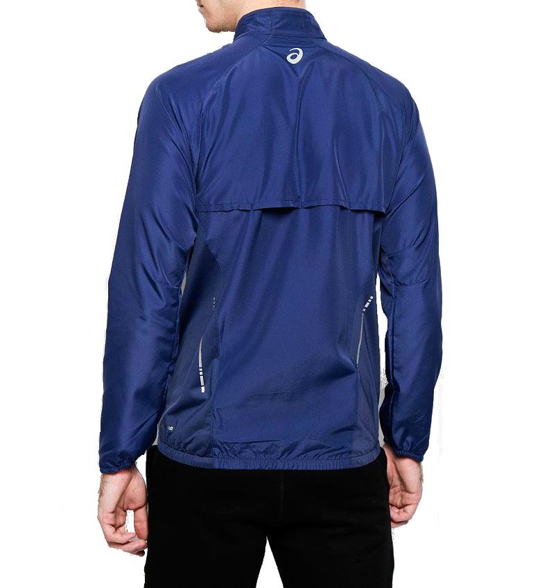 Мужская беговая ветровка Asics Woven Jacket (110411 8133) синяя фото