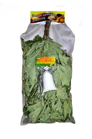 Веник дуб - ЭКСТРА с запаркой (30 грамм) в VIP упаковке