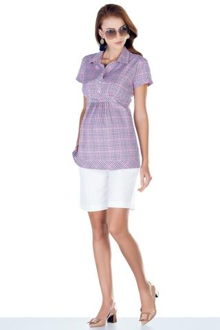 Блузка для беременных 01395 розовый