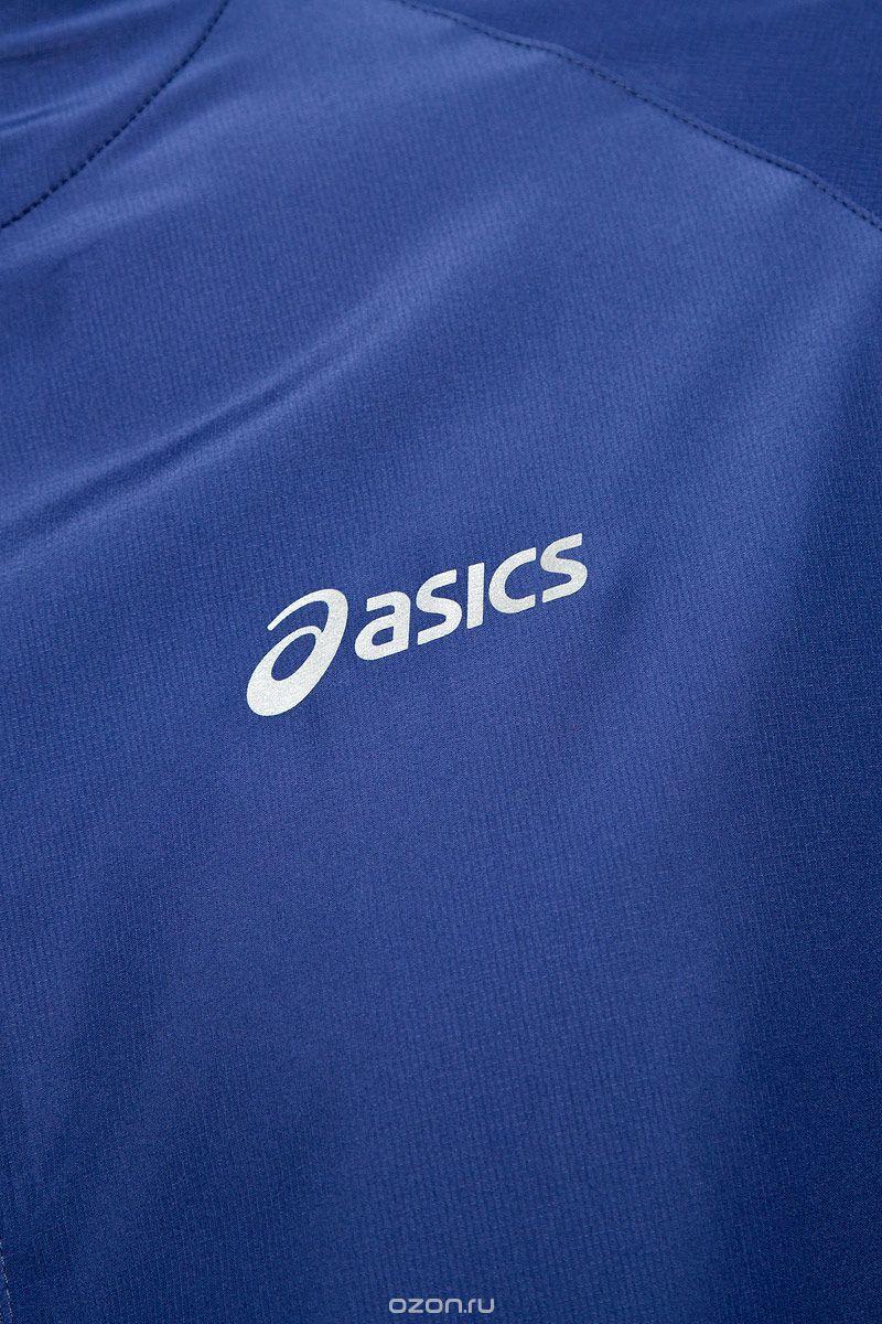 Мужская ветровка Асикс Woven Jacket (110411 8133) синяя фото