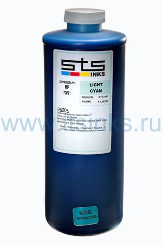 Латексные чернила STS для HP L26500\L28500 Light Cyan 1000 мл