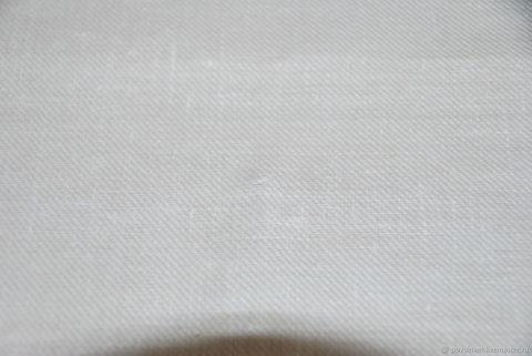 Льняная римская штора Кларин молочный