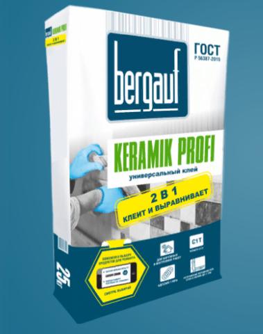 Клей для плитки Бергауф Керамик Профи 25 кг