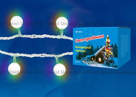 ULD-S0700-050/DTA RGB IP20 RAINBOW Гирлянда светодиодная «Радуга», 50 светодиодов, 7 м, RGB, IP20, провод прозрачный