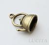 "Подвеска 3D ""Чайник"" (цвет - античная бронза) 19х16 мм"