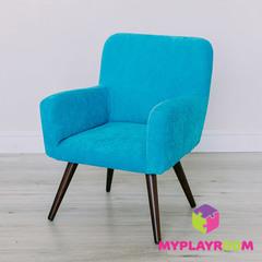 Детское стильное кресло в стиле 60-х, бирюзовый