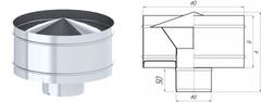 Дефлектор TMF ф150, 0,5мм нерж
