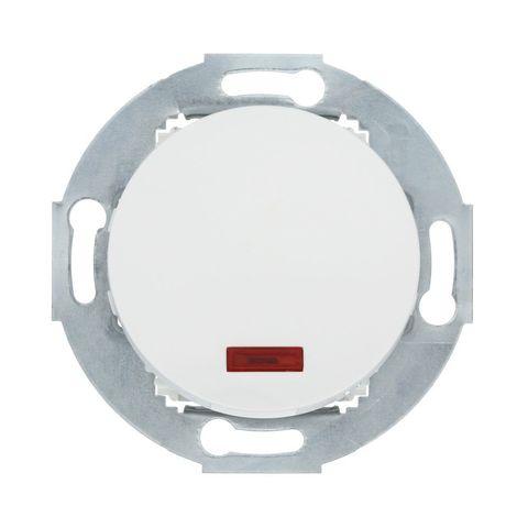 Переключатель одноклавишный на два направления (схема 6L) с индикатором 10 A, 250 В~. Цвет Белый. LK Studio Vintage (ЛК Студио Винтаж). 880404-1