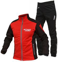 Утеплённый лыжный костюм RAY RACE WS Red-Black 2018 мужской