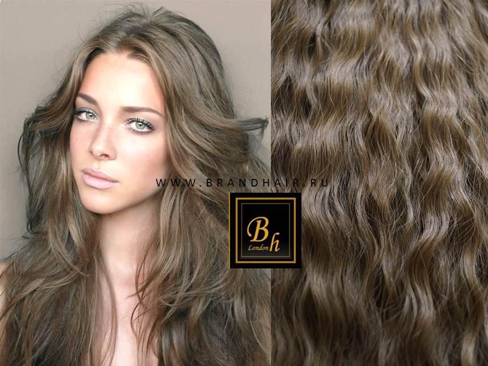 Вьющиеся волосы оттенок #10C-Натуральный пепельно-русый- 52 CM