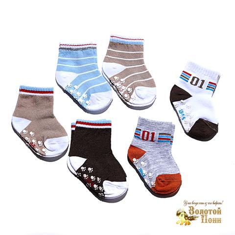 Носочки малышам с тормозами (0-18) 180516-Р3583