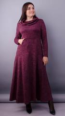 Селфи. Платье макси для женщин плюс сайз. Бордо.