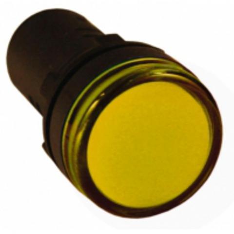 Лампа AD-22DS(LED)матрица d22мм желтый 110В AC/DC TDM