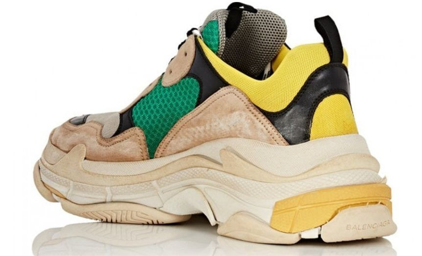 Balenciaga Triple S (Green/Yellow/Beige) (002)