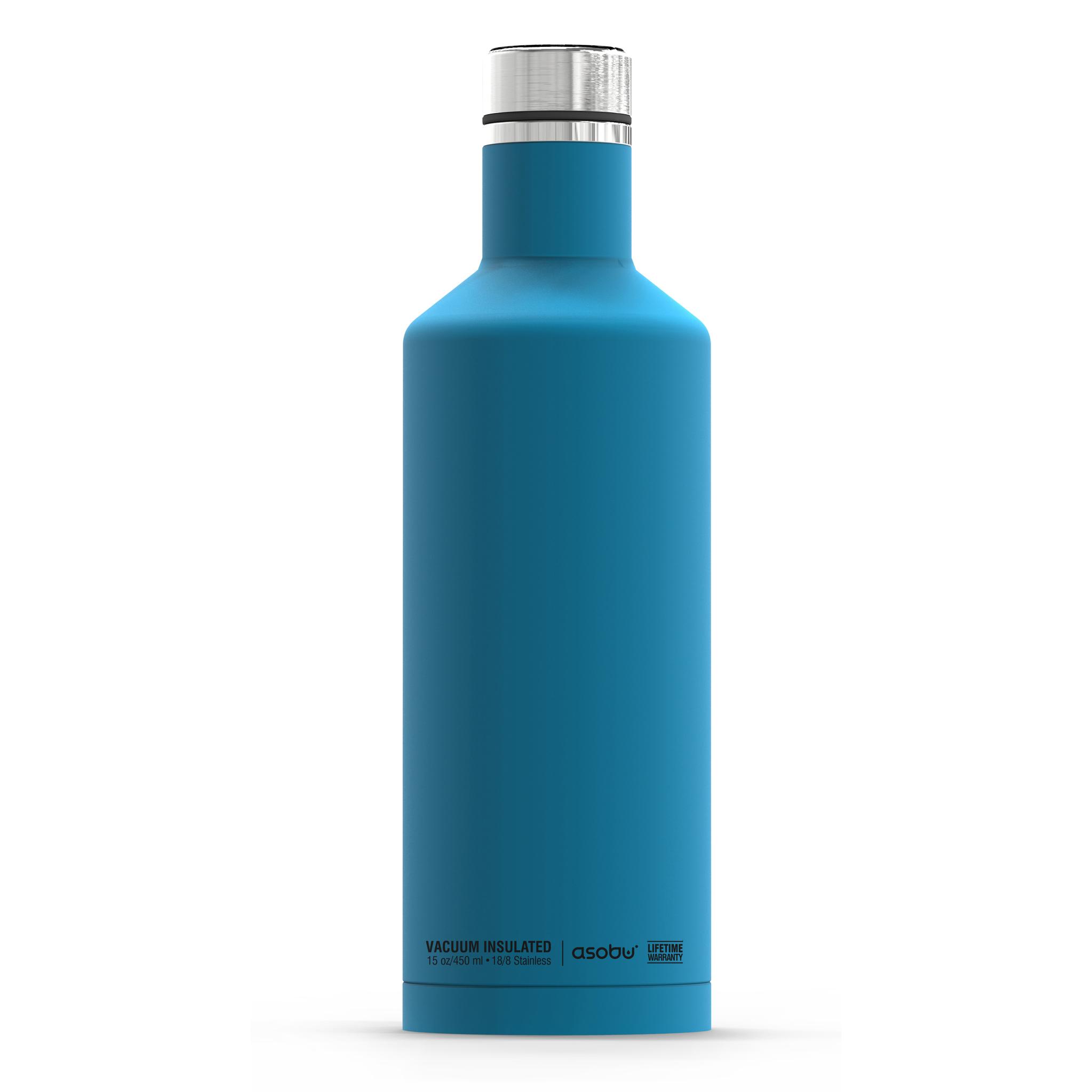 Термос-бутылка Asobu Times square (0,45 литра), голубая*