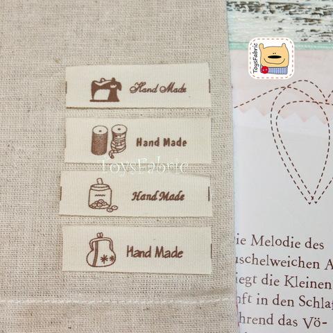 Нашивка тканевая HandMade с рисунком (4 шт.)  Н109