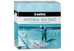 Соль морская натуральная Сетра, 500г