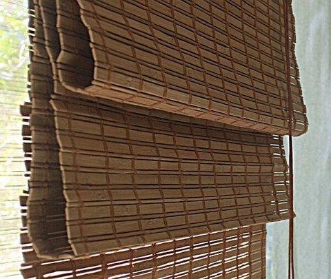 Бамбуковая римская  штора какао