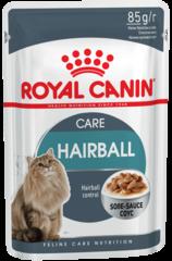 Royal Canin Hairball Care влажный корм для взрослых кошек и котов, способствующий выведению волосяных комочков в 2р. больше за 21 день, пауч 85 г
