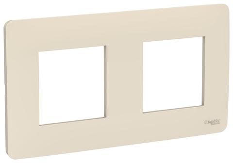 Рамка на 2 поста. Цвет Бежевый. Schneider Electric Unica Studio. NU200444