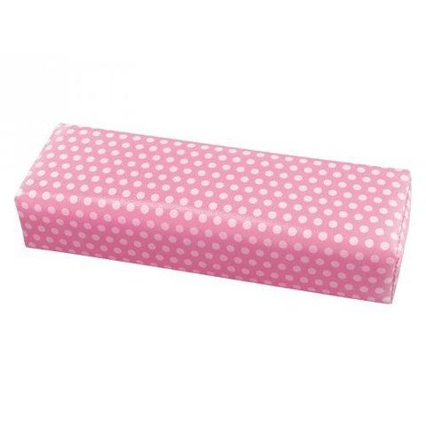 Подлокотник 30 см - розовый в белый горох