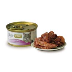 Brit Care Tuna&Salmon Тунец и лосось, консервы д/кошек, 80г