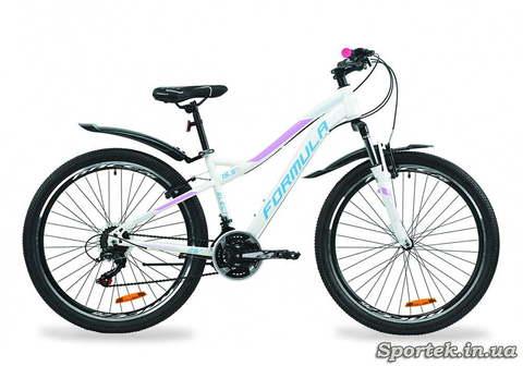 Горный женский велосипед Formula Electra - бело-голубой с сиреневым