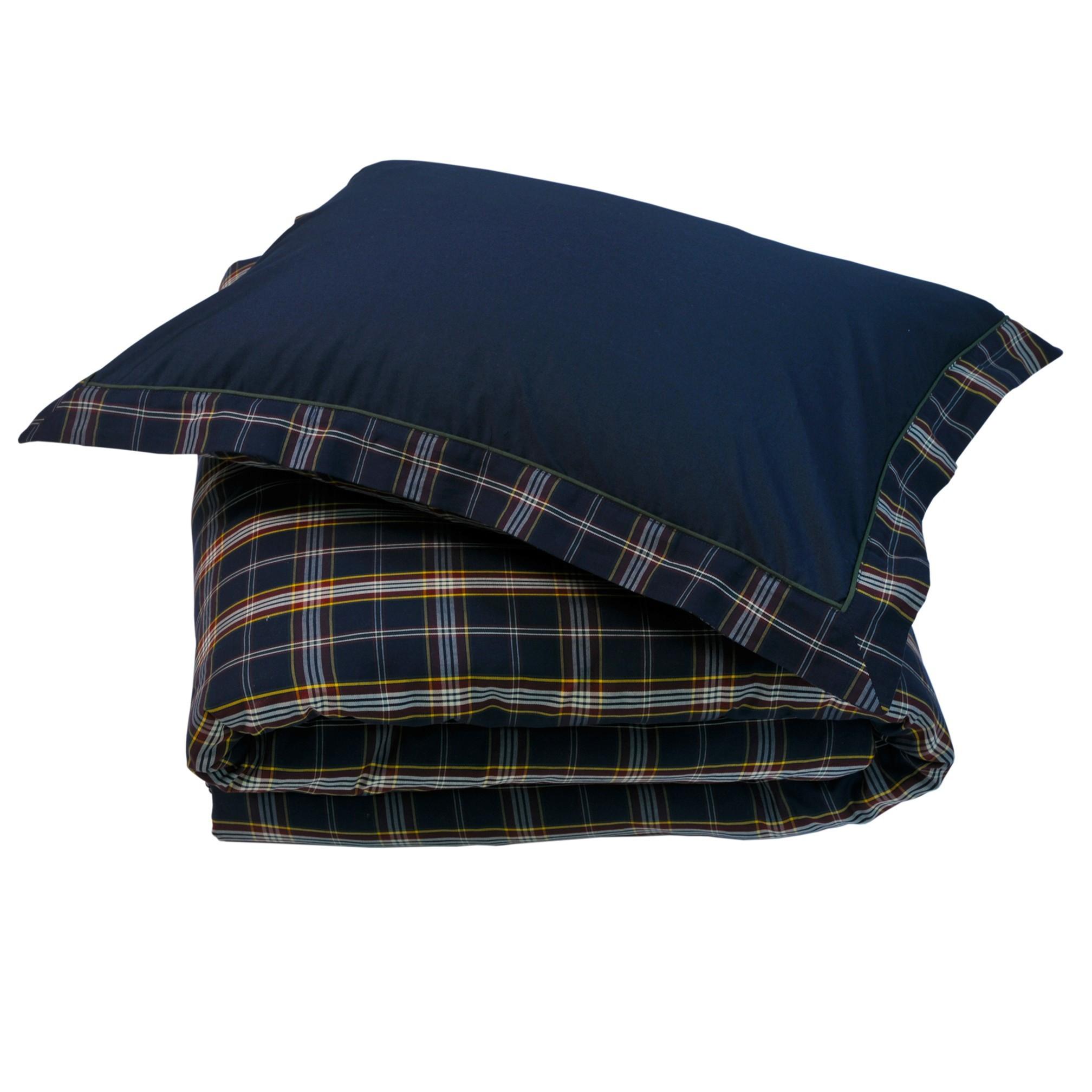 Постельное Постельное белье 2 спальное евро макси Casual Avenue Oxford Navy Tartan темно-синее elitnoe-postelnoe-belie-oxford-navy-tartan-deep-blue-ot-casual-avenue-turtsiya.jpg