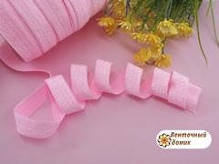 Эластичная резинка с люрексом розовая 16 мм