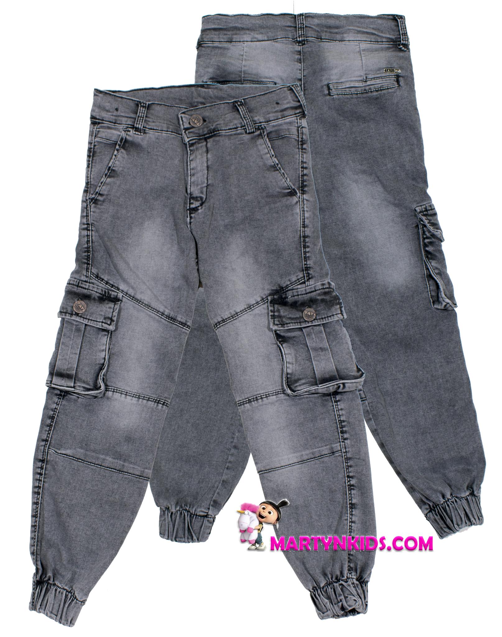 1301 джинсы джоггеры накладной карман 2