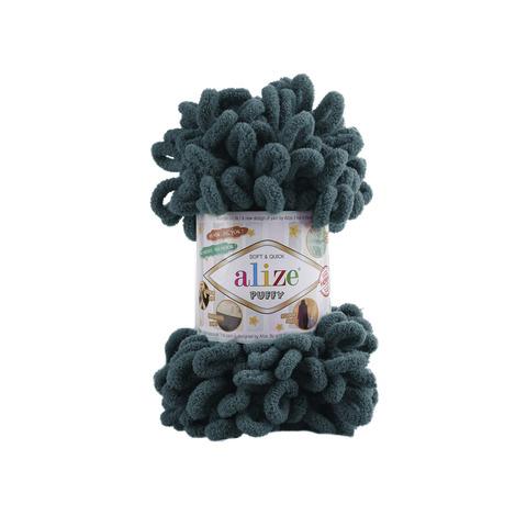 Купить Пряжа Alize Puffy Код цвета 330 Петроль | Интернет-магазин пряжи «Пряха»