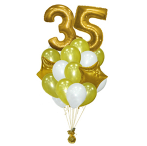Фонтан из шаров на 35 лет