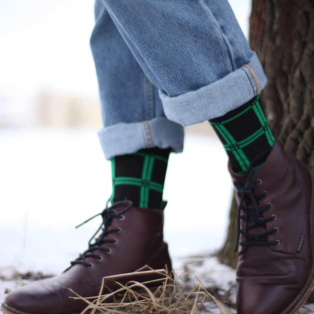 Мужские зеленые носки Marrey City Green