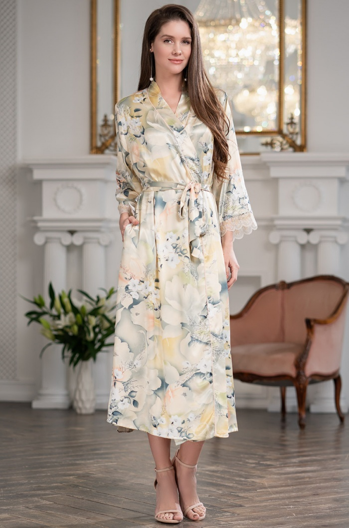 Шелковые халаты Женский шелковый халат  Mia-Amore   LUCIANNA Лучианна 3539 3539.jpg