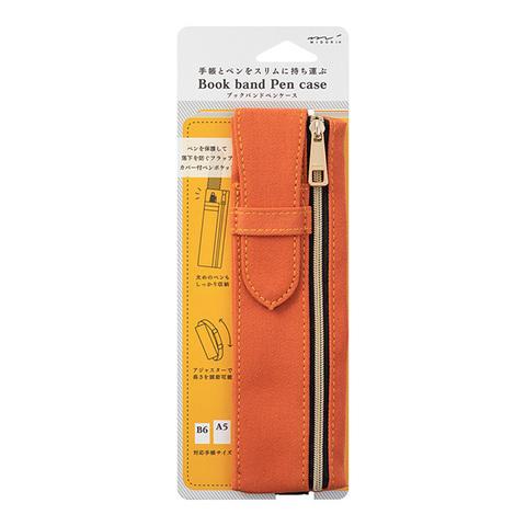 Пенал Midori Book Band Pencase (оранжевый, для блокнотов B6~A5)
